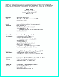 high school resume examples for college admission  sample