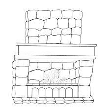 Coloring Pages - Fireplace