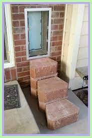 install patio door brick wall