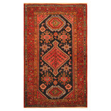 persian hand knotted tribal hamadan wool rug 3 10 x 6 7