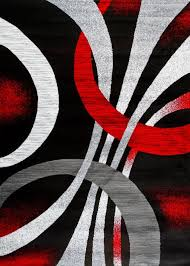 area rugs coatsworth modern abstract black red area rug