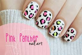 Pink Panther manicure! Leopart print nail art tutorial - YouTube