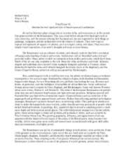 renaissance study resources 1 page history 121 final essay 2