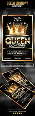 Birthday Flyers Template Queen Birthday Flyer Queen Birthday Psd Templates And Flyer Template 15
