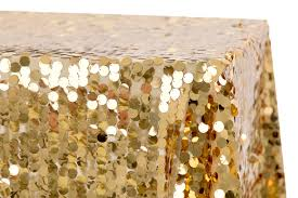 large payette sequin tablecloth 90 x132 rectangular gold