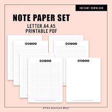 Printable Wide Ruled Paper New Note Paper Planner Printable Note Paper Wide Ruled Paper Etsy