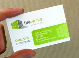 tile business cards flooring custom monogram card