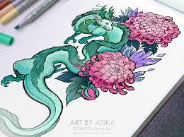 Japanese Dragon Tattoo Flash Tattoo Sketch On Wacom Gallery