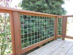 Image Metal Grid Deck Hog Wire Deck Railing Decksdirect Hog Wire Deck Railing Woodworking Deck Railings Wire Deck