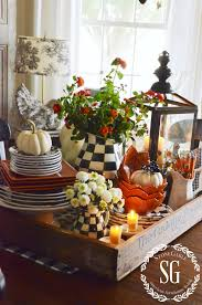 Centerpiece For Kitchen Table Fall Kitchen Table Centerpiece Stonegable