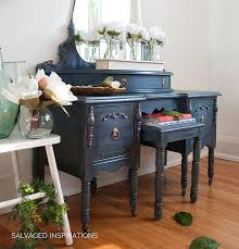 painted vintage vanity makeover by salvaged inspirations painted furniture