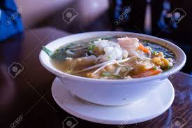 Vietnamese Seafood Noodle Soup Stock ...