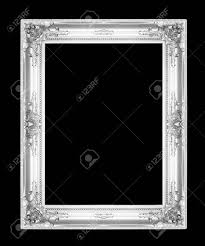 silver antique picture frames. Old Antique Silver Picture Frames. Isolated On Black Background Stock Photo - 28199852 Frames S