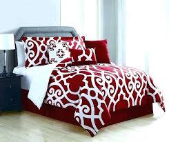 red bedding red quilt sets black bedding sets regarding red comforter set queen decorating red black