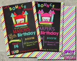 printable bounce house birthday invitation digital file only printable bounce house birthday invitation digital file only forever fab boutique 1