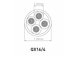 qed qx16 4 lszh bi wire 4 core installation speaker cable by diagram