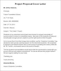 Sample Of Proposal Letters Cover Letter For Project Report Submission Journalinvestmentgroup Com