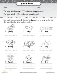 Y As A Vowel Worksheet - Switchconf