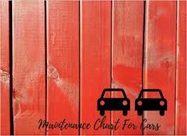 Car Maintenance Chart Amazon Com Maintenance Chart For Cars Car Maintenance