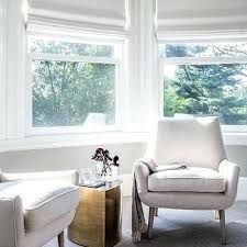 Bay window furniture living Window Curtains Bay Window Living Room Bay Window Area With Modern White Chairs And Brass Accent Table Living Bay Window Living Airswapinfo Bay Window Living Room Bay Window Interior Design Shining Bay