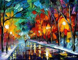 modern impressionism palette knife oil painting kp155