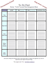 To Do List Charts To Do List A Simple Task And Time Management Chart Pennsylvania