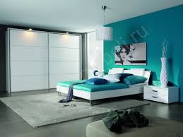 Captivating Modern Bedroom Color Ideas With Blue Green Wall Color