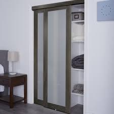 closet doors. Baldarassario 1 Lite 2 Panel MDF Sliding Interior Doors Closet