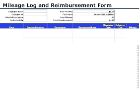 Free Excel Mileage Log Travel Expense Log Template Free Report Templates Business