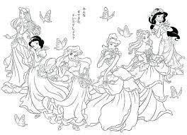 Jasmine Coloring Pages To Print Free Disney Princess E Page