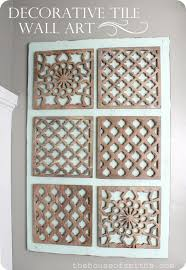 Arts And Crafts Decorative Tiles Impressive Diy Decorative Tile Wall Art Throughout Decorative Wall 66