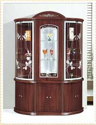 Wine And Bar Cabinet Wooden Antique Living Room Cabinets Glass  For Sale50