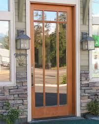 plank panel door with true arch