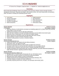 Generalgergement Emphasis Restaurant Gm Resume Example For Resumes