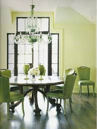 green dining room round table green upholstered chairs pale green paint by xjavierx