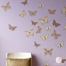 modern wall art for girls room or nursery cute butterfly butterflies mural stencils royal on wall art stencils for painting with wall art wall mural stencils for painting diy wall stencils
