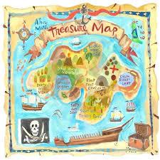 treasure map wall art treasure map personalized murals that stick daisy kids room decor ideas treasure map wall