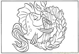 Small Picture Cartoon Fish Coloring Pages Cartoon Fish Coloring Pages Depetta At