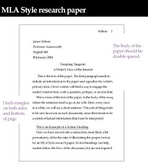 English Paper Heading Template Of Mla Research Paper Unit 4