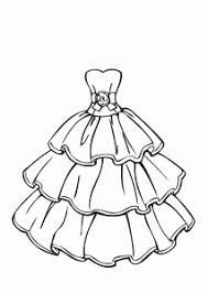 Small Picture Wedding dress beautiful coloring page for girls printable free