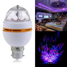 Rotating Led Disco Light Bulb Rotating Party Light 3w Ac85 260v B22 3w Rgb Crystal Ball