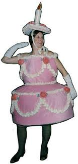 Mascot Pink Birthday Cake Mascot Costume Adult Size Cartoon