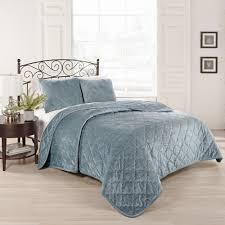 beautyrest collette 3 piece blue queen coverlet set 15798beddqueblu the home depot
