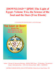 Download Pdf The Light Of Egypt Volume Two The Science