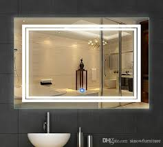 bathroom mirrors with led lights. 2018 Led Bathroom Mirror 24 Inch X 36 | Lighted Vanity Includes Defogger \u0026 Touch Switch| Wall Mount Vertical Or Horizontal From Sinowfurniture, Mirrors With Lights L
