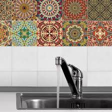 10pcs arabian style removable wall tile stickers bathroom sticker home decor 4
