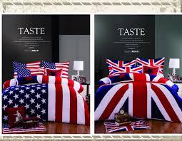 3 4pcs 100 cotton american flag bedding set twin size usa uk flag bedding