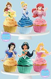 Printable Disney Princess Cupcake Toppers Cupcake Picks Etsy