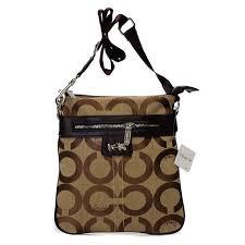 Coach Legacy Swingpack In Signature Medium Khaki Crossbody Bags AWL