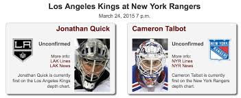 Rangers Have Opportunity To Hurt Kings Playoff Chances Lak